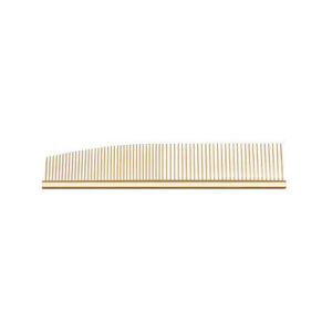 U&U Half Moon Stainless Gold Combination Comb