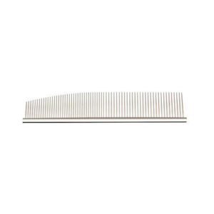 U&U Half Moon Stainless Silver Combination Comb